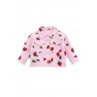 Turn Down Collar Strawberry Jacket