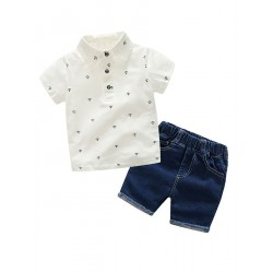 Boys Set Polo and Denim