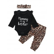 Mommy is My Bestie Leopard Addicted Fancy Σετάκι
