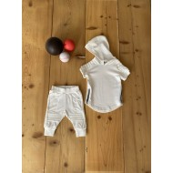 White Work Out Hoodie